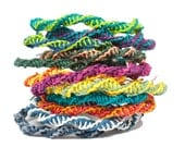 DIY Kit: Paperyarn Friendship Bracelets - Fun and Easy - Personalize - Choose 4 colors -  Great Gift - DIY, Crafts, Kids