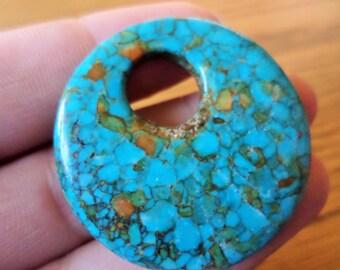 Mosaic Turquoise Agogo Pendant 40mm