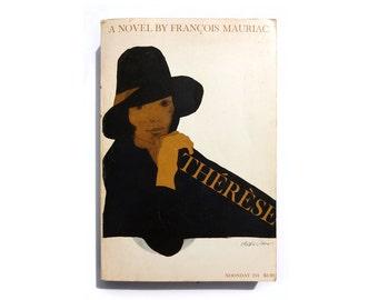 "Milton Glaser paperback book cover design, 1969. ""Thérèse"" by Francoise Mauriac"
