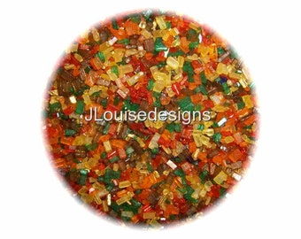 Autumn/Fall Sugar Crystals Edible Sprinkles Cake, Cakepops, Cookie and Cupcake Sprinkles Confetti Decorations