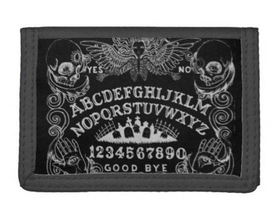Ouija wallet trifold black