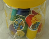 Coming Up Daisies Vintage Corning Glass Canister
