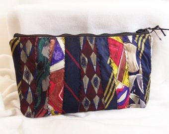 Neck Tie Clutch Upcycled Repurposed Men's Ties