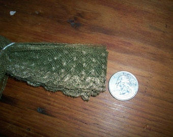 """1 yard of antique french gold lace trim 1 1/4"""""""