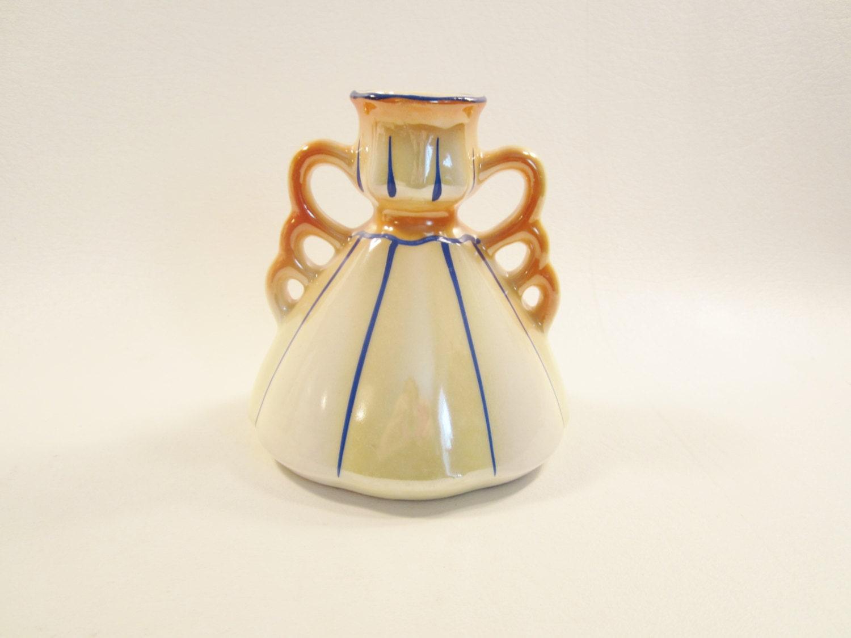 vintage orange lustre vase made in czechoslovakia. Black Bedroom Furniture Sets. Home Design Ideas