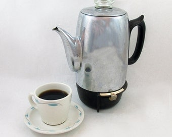 Mid Century GE 9 Cup Automatic Electric Coffee Percolator Coffee Maker