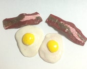 "American Girl doll food - eggs, bacon 18"" doll food"