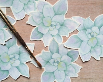 Succulent Cut Outs  - Place cards, wishing tree, wedding decoration, baby shower, escort cards