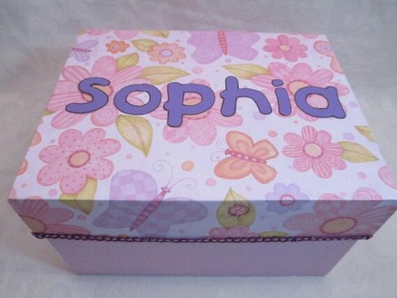 Birthday Letters Keepsake Box -Time Capsule - Baby Shower Gift - 18th. Birthday Gift- Girl Keepsake Box