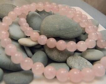 Rose Quartz Beads 8mm  ( QTY 40)