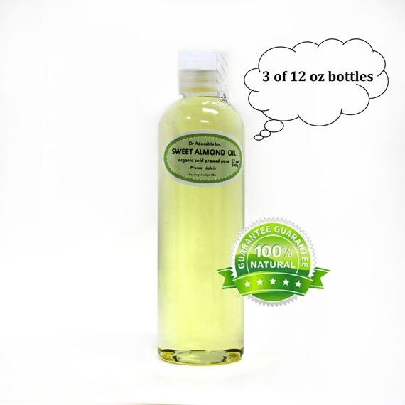 36 OZ Pure Organic Sweet Almond Oil 100% Pure Cold Pressed