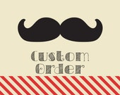 Custom Order - Plastic Photo Booth Props by Whisker Works