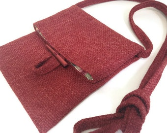 Small Shoulder Bag Red Upholstery Bag Essentials Purse Small Red Purse Travel Bag Fabric Purse Pass Port Bag