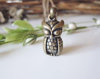 Mister Owl 3D Necklace - Brass