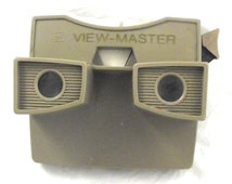 Tan Gaf Viewmaster, Vintage Viewer in Light Brown Color (A3)