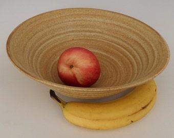 Stoneware fruit or salad bowl