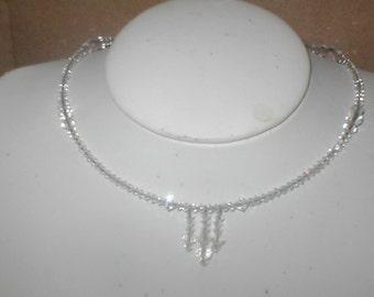 Swarovski Clear Crystal Choker Necklace Bridal