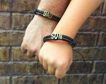 Father Son Matching Bracelets - Dad Gifts - Dad Bracelet - Father Jewelry - Daddy and Me Outfit Accessory