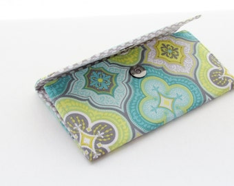 Teal Green & Grey Groovy Wallet