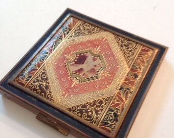 Gilded Leather Compact Zell Fifth Avenue