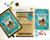 The Larissa Save the Date Magnet Wild West Inspired