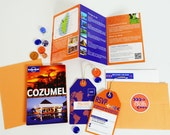 The Lovely Lonely Planet: Travel Guide Primer Inspired Destination Wedding Invitation