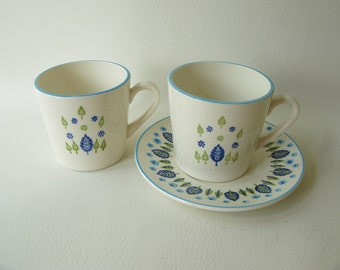 Vintage Swiss Alpine Cups, Saucer