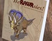 Dinosaur HeRAWRsies Coloring Book - Dinosaur Coloring Book - Adult Coloring Book - Paleontology - Science Gift - Geek Gift - Gift for Kids