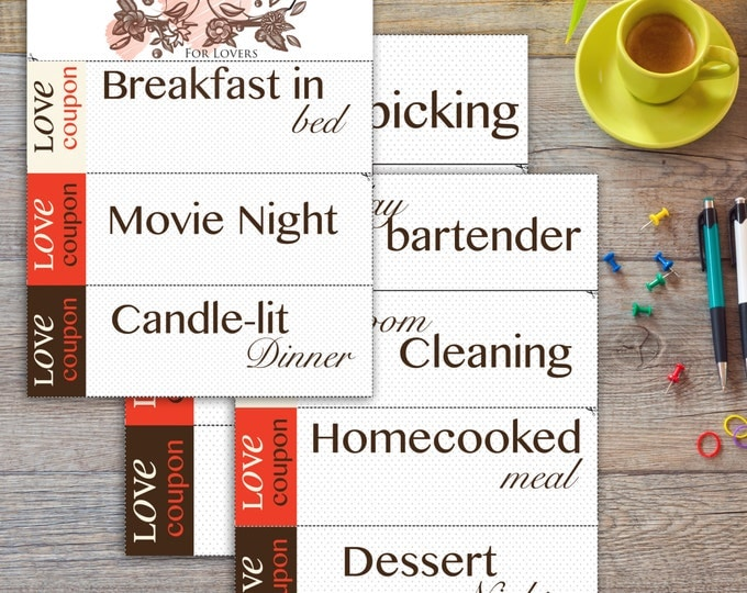 Love Coupons | 11 different coupons cards | Printable | Instant download