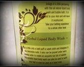Natural Scented Body Wash - Fragrant Bubble Bath - Liquid Bath Soap - Liquid Hand Soap - Bath and Body