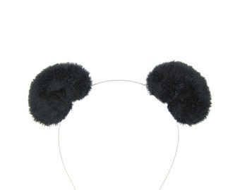 Panda Bear Ears Hair Clips Costume Accessory Fluffy Plush Bear Ears
