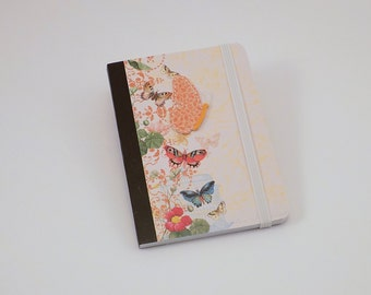 Mini Notebook Colorful Butterfly Design Up-cycled Decorated Mini Composition Notebook