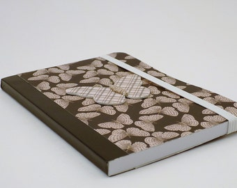 Mini Notebook Grey and Gold Butterfly Design Up-cycled Decorated Mini Composition Notebook