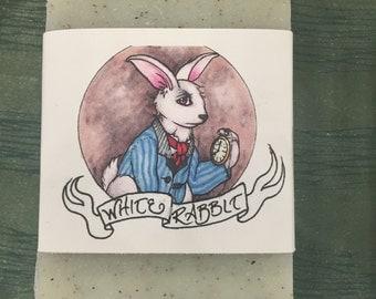 White Rabbit-Alice in Wonderland handmade Soap