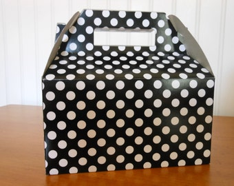 Polka Dot Take Out Party Boxes- Order of (12) Minnie Mouse favor box, Mickey Mouse favor box, Minnie Mouse birthday, Mickey Mouse birthday