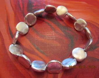 101 Antique Silver Plated 10mm Bead Bracelet