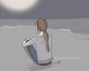 Keep Dreaming Girl, You'll Get there...-  Art for Women - Quotes for Women  - Art for Women - Inspirational Art