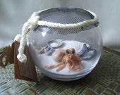 Handmade art doll,OOAK hermit crab,Clay hermit crab,clay sculpture,beach theme,hermit crab
