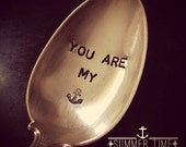 Vintage Silverware Silver Plate You Are My Anchor Tablespoon Nautical Anchor