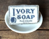 White Soap Dish Vintage French Country Farmhouse