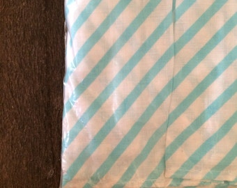 Vintage Teal or Mint & White Striped Crib Dust Ruffle
