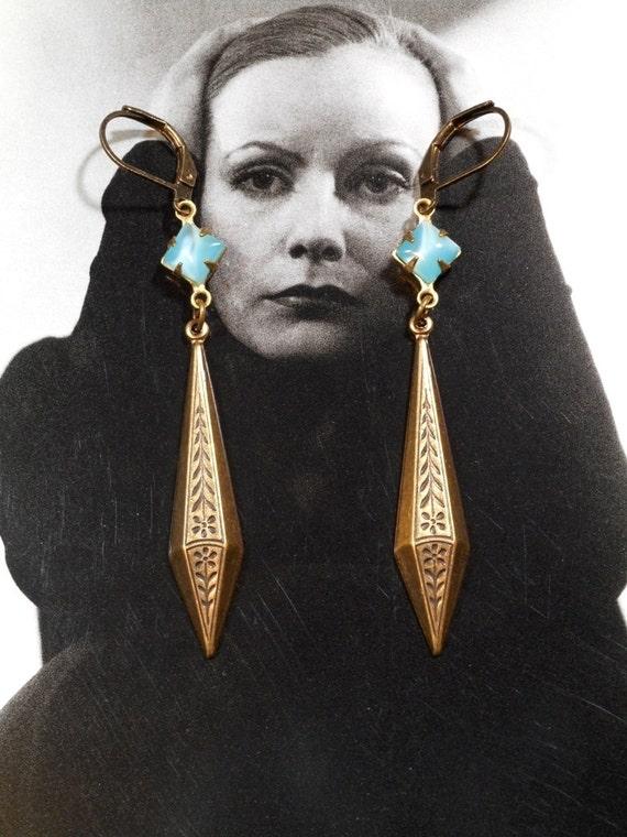 great gatsby earrings art deco jewelry 1920s earrings