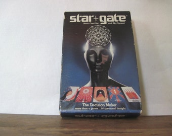 STAR+GATE, 1984 metaphysical card game - decision maker, personal insight, New Age, occult, stargate, mystic, wiccan, vintage, game night