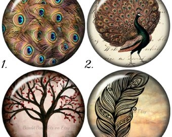 Tree of life 20 mm snap charms that will fit Gingersnap, Noosa style Jewelry. Chunk charms are made with high domed optic glass cabochons.
