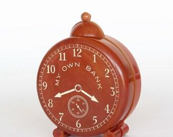 My Own Bank Plastic Clock Bank