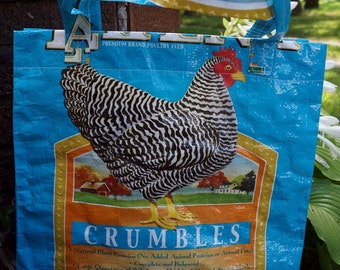 LINED Poultry Feedsack Totes - Purina Layena