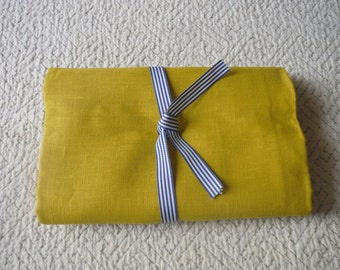 Pure Linen CHARTREUSE yellow green ecofriendly fabric sewing supplies crafts from MyGypsyCottage on Etsy