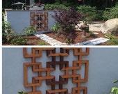 GARDEN TRELLIS ORCHID and More Wood Garden Trellis Asian Design Mid Century Modern Handmade Garden Wood Trellis Plant Stand  by Modern Logic