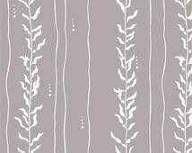 1/2 Yard Organic KNIT Fabric - Birch Beyond the Sea - Kelp Shroom