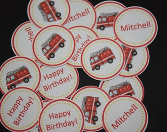 150 pieces Personalized Firetruck Confetti